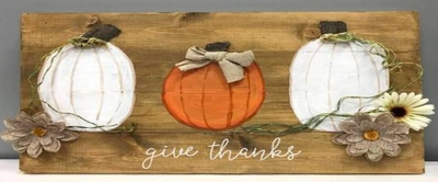 Create Give Thanks Pumpkin Board at Uptown Art on 10/14 at 1