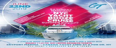 NYC Saturday Midnight Yacht Booze Cruise Party 2019